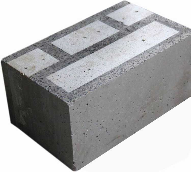 Self insulation block silica fume