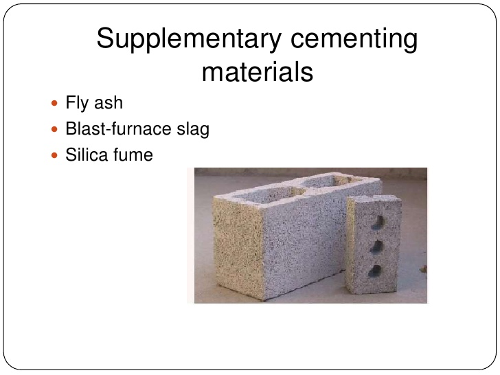 Differences between fly ash, slag and silica fume